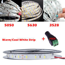 5M LED 3528/5050/5630 SMD Waterproof Flexible Warm Cool White Strip Xmas Light