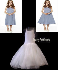 CHHILDREN'S NET PETTICOAT SLIP 6-12Years FOR LIGHT FULLNESS