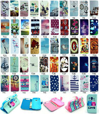 Fashion Magnetic Flip Cute Printed Wallet PU Leather Stand Case Cover For S7580