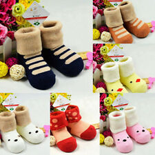 Cute Winter Baby Cotton Socks Kids Thick Soft Warm Cartoon Ankle Socks For 0-4Y