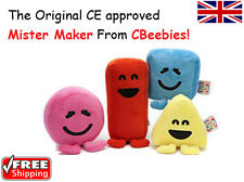 """6"""" - 9"""" Official CBeebies Mister Maker Large Plush Soft Toy Shapes Sound & Songs"""