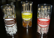 Set of 8 Gourmet Candy Hot Beverage Stirrers - Choose from 3 Flavors - NIP!