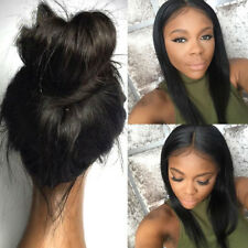 Malaysia silky Straight 100% India remay huamn hair full lace front lace wig