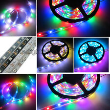 USA Ship 5M WS2812B WS2811 Individual Addressable 5050 SMD RGB 150 LED Strip 5V
