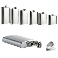 1pc 6 8 10 18 oz Liquor Stainless Steel Pocket Screw Cap Hip Flask with Funnel
