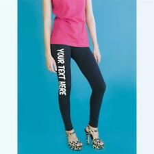 Womens Custom Leggings Custom Customised Personalised Your Text Here!