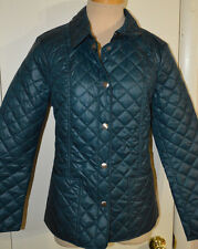Women's St. John's Bay Pacific Blue Ltwt. Everyday Quilted Coat Jacket Size M, L
