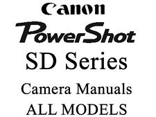 Canon PowerShot SD User  Guide Instruction Manual (SD Grp 1)