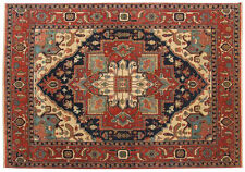 INDIAN HAND KNOTTED HERIZ SERAPI PERSIAN ORIENTAL AREA RUG WOOL CARPET ALFOMBRAS