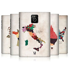 HEAD CASE DESIGNS PATTERNED MAPS CASE COVER FOR BLACKBERRY PASSPORT