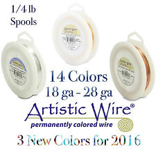 Artistic Wire 1/4LB Spool Tarnish Resistant & Silver Plate Wires - 9 COLORS