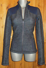 New LULULEMON FORME sport JACKET athletic golf yoga SLUB DENIM INKWELL NAVY 8 12