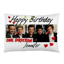 Personalised 1D One Direction Happy Birthday & Merry Christmas Pillow Cases