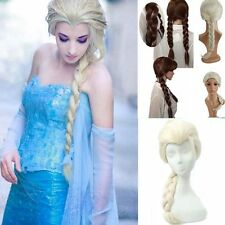 Anime Wavy Curly Frozen ice Romance Elsa Anna Princess Kids Cosplay Hair Wig EA