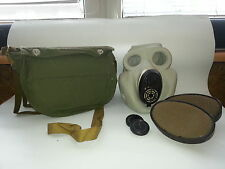 Soviet Army Gas Mask PBF EO-19 with filters and bag. Grey Rubber. NEW. VINTAGE