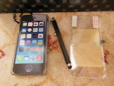 Iphone 5 5s Glitter snap case bundle blue + screen protector+ stylus pen