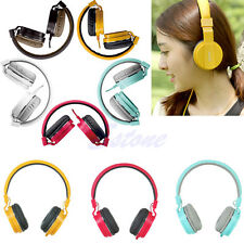 3.5mm Stereo Headphone Over-Ear Earphone Headset With Mic For iPod iPhone MP4 PC