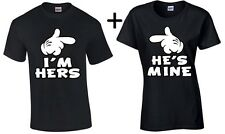 Couple T Shirt He's Mine I'm Hers Valentine's Day Gift For Her him couple tee