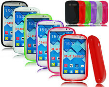 NEW SLIM BLACK GEL SILICONE RUBBER PHONE CASE COVER FOR ALCATEL ONE TOUCH POP C1
