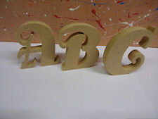 "18mm mdf wooden freestanding letters4"",6"",8"",10"",12 ANTSY FONT CHEAPEST ON EBAY"