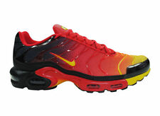 NEW MENS NIKE AIR MAX PLUS RUNNING SHOES TRAINERS UNIVERSITY RED / BLACK / TOUR