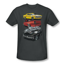 Fast And The Furious Muscle Car Splatter Adult Slim Fit T-Shirt