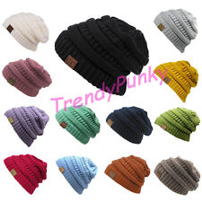 Unisex Knit Slouchy Beanie CC Oversized Thick Cap Hat Men Women Multi Color