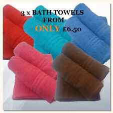 """LARGE BATH TOWELS """"3 towels for the price of 1 towel"""" BARGAIN PRICE 100% COTTON"""