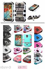 For Samsung Galaxy Light T399 ShockProof Tuff Hybrid Rubber Silicone Case Cover