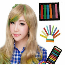 New Easy Wash Out Colors Non-Toxic Hair Chalk Dye Soft Temporary Hair Pastel Kit