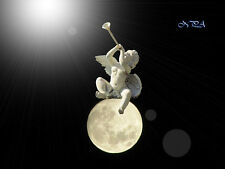 Angel Cherub Trumpeting on Moon Photo Picture Wall Art Choose Your Size A129