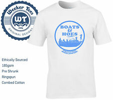 Boats and Hoes T Shirt of Step Brothers Movie Tribute Size S - XXL