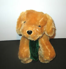 Brown Puppy Dog With Music Box Movement Inside - Plush Stuffed Animal
