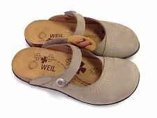 Orthaheel Aida Leather Clogs w/ Arch Support