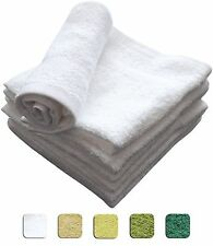 12 SOFT WASHCLOTHS / FACE TOWELS 12x12 inches 100% COTTON Various Colors