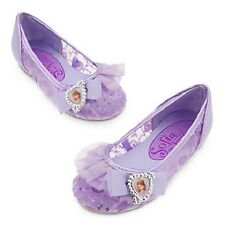 NEW NWT DISNEY STORE PRINCESS SOFIA THE FIRST COSTUME SHOES SEQUIN FLATS 2015