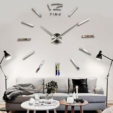 3D EXTRA LARGE LUXURY MIRROR WALL STICKER CLOCK LAYOUT SIZE UP TO 1300MMX1300MM