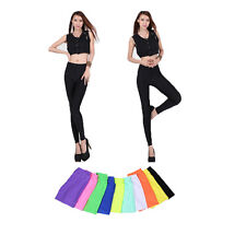Fluorescent Color Bright Skinny Shiny Stretchy Solid Leggings Pants Slim