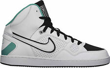 BRAND NEW MENS NIKE SONS OF FORCE HI TOP CASUAL SHOES (WHITE/BLACK) RRP:$145