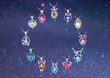 Crystal Necklace of Astrology 12 Zodiac Constellations Colorful Crystal Pendants