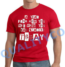 Men's Motivational Workout Quote Red T Shirt Muscle Beast Fitness Gym MMA Tee