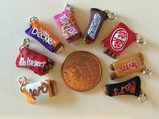FAVOURITE CHOCOLATE BARS MARS TWIX, FIMO/POLYMER CLAY CHARM - HANDCRAFTED by MBO