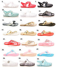 LADIES WOMENS JELLYS SANDALS FLIP FLOPS BEACH SUMMER HOLIDAY RUBBER SHOES SIZE