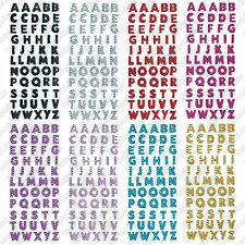 Glitter Crystals Alphabet Letter Stickers - Self Adhesive ABC A-Z Words Stick On