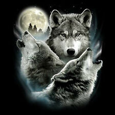 Funny Animal T-Shirt Three Wolf Moon 3 Wolves Howling Tee