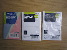 2015 FILOFAX MINI REFILLS INSERTS WEEK ON ONE TWO DIARY COLOURED**NEW FREE P&P