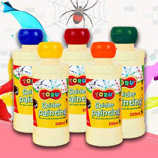 TORU Spider Painting Washable Kids Fun Inspiring Non-toxic 5 Colors 200ml