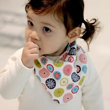 Cute Newborn Baby Scarf Bib Girl Boy Unisex Cotton Infant Toddler Handmade Eb87