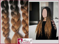 """20"""" Ombre Two tone Synthetic Braid Hair Extension 1/30 Black Auburn 1/27 Blonde"""