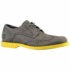 Timberland Earthkeepers Stormbuck Lite Brogue Wing Tip Shoes New $120 Grey 3307A